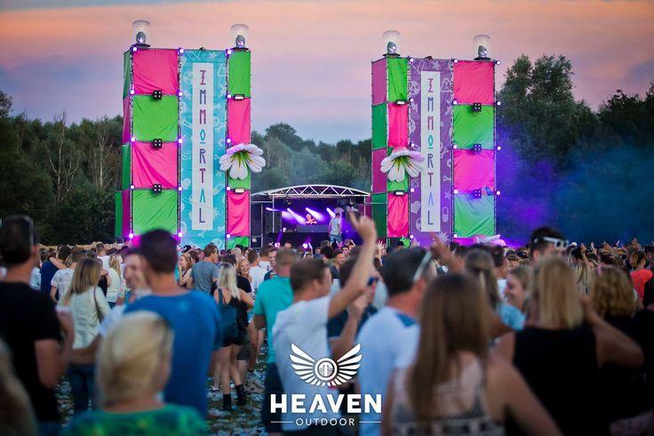 Roze en groene #layher voor Heaven Outdoor