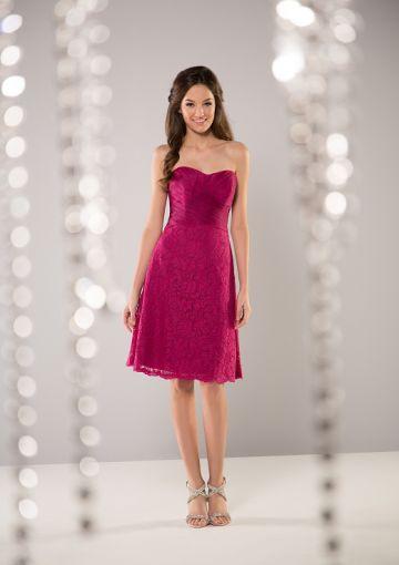 Cheap and Australia A-line Sweetheart Neckline Lace Knee Length Bridesmaid Dresses from Dresses4Australia.com.au