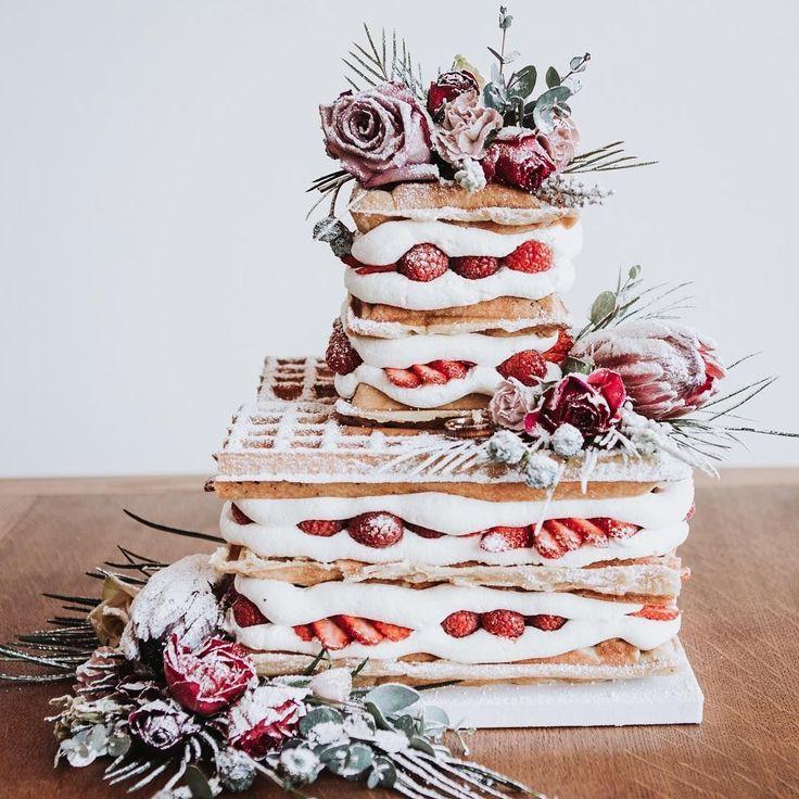 Alternative Hochzeitstorte, Waffelhochzeitstorte #weddingcake #cake #weddingideas # …   – | W E D D I N G  D A Y |