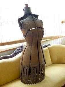 Antique dress form, Hull, MA ..love the iron trim on the bottom..Want one so badly!