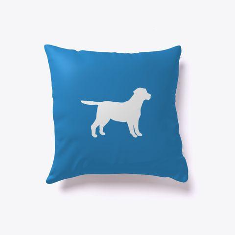 Labrador Retriever Dog Outline Pillow Denim Blue. Are you a lab lover? Get our Labrador Retriever outline pillow! Perfect for those with fine taste in dog breeds.