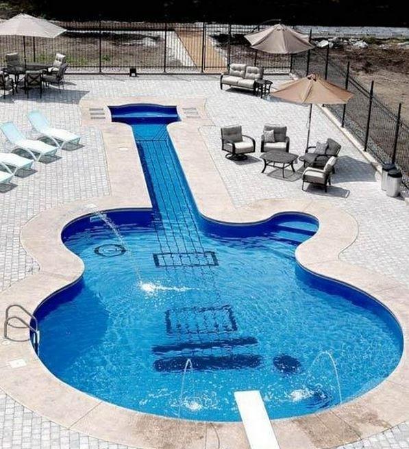 Guitar-Shaped Swimming Pool