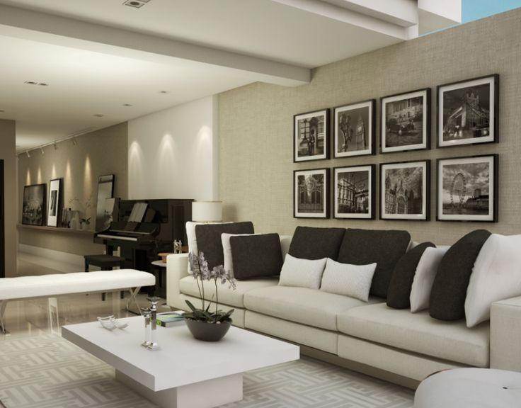 Living room apartamento P | H - projeto por Rubatino Arquitetura. #interiores #living