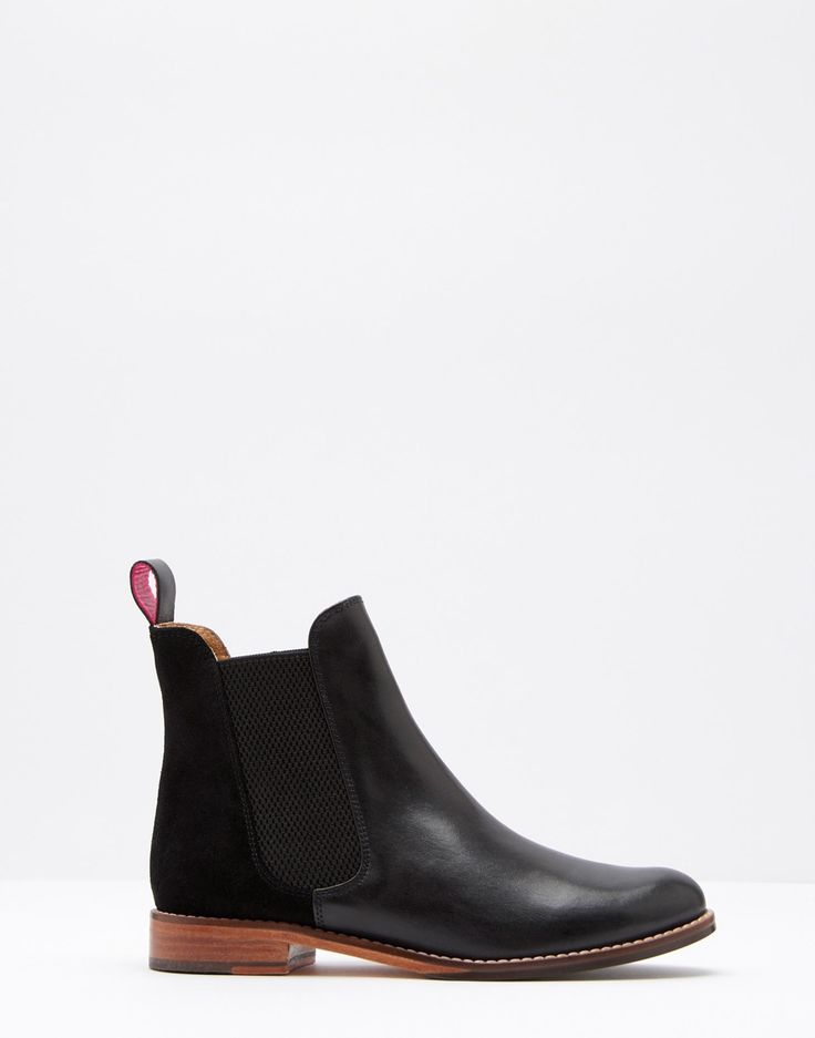 Westbourne Black Leather Chelsea Boots | Joules US