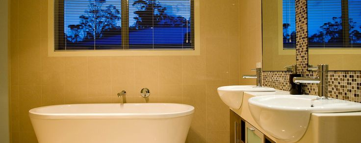 Freestanding bathtubs never go out of fashion - Nevada Home Design - Learn more at http://www.wilsonhomes.com.au/home-design/nevada #freestandingbath #wilsonhomes