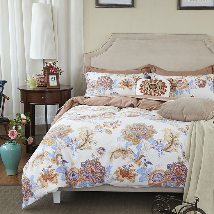 2017 Classic Bedding Sets  flower bed linens 4pcs/set duvet cover set sheet AB side duvet cover 2017 bed #Affiliate
