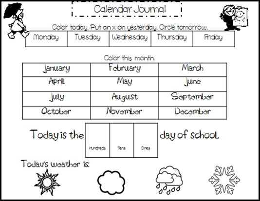 Calendar Activities Printables : Best images about pre k morning meeting circle time on