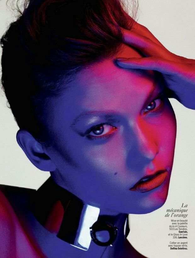Karlie Kloss in 'Color Power' by Ben Hassett for L'Express Styles, April 2014
