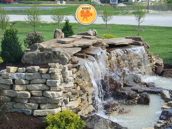 182 best water features images on pinterest water for Garden waterfalls do it yourself