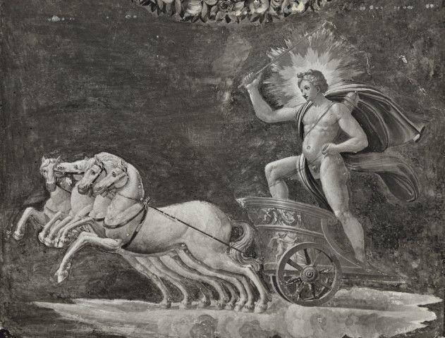 Anonimo , Peruzzi Baldassarre; Giovanni da Udine; Pippi Giulio - sec. XVI - Carro del sole - particolare