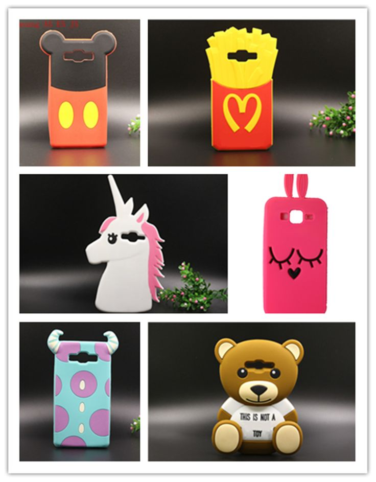 For Samsung Galaxy j5 3D Cartoon Soft Silicone Rubber Back Cover Phone Case Girl Fashion Cute Lovely Carton Horse Free Shipping