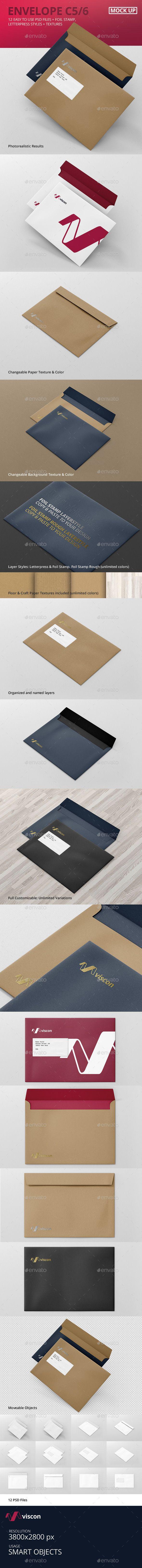 Envelope C5 Mock-Up (Stationery)