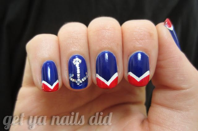 get ya nails did: anchors aweigh Carnival Cruise Nails