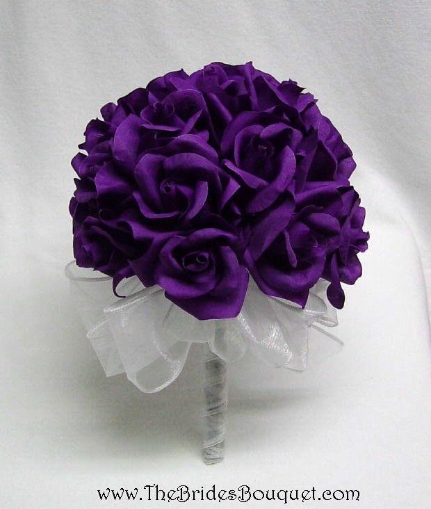 Dark Purple Wedding Flowers And Bridal Inspiration