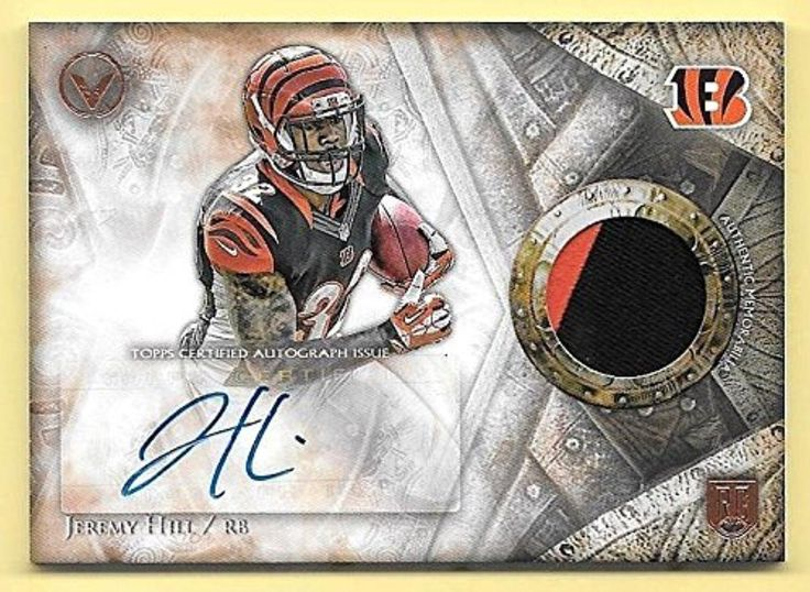 Brought to you by Avarsha.com: <div><div>2014 TOPPS VALOR NFL SHIELD OF HONOR 2 COLOR ROOKIE PATCH AUTOGRAPH INSERT CARD #SOH-JHI JEREMY HILL<br><br><b>Exported By ExportYourStore</b></div><div>Joe's Sports Cards & Collectibles</div></div>