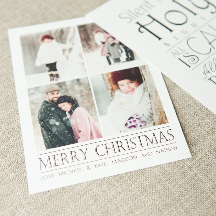 Black & White Holiday Card  by Photographer Cafe @photogcafe