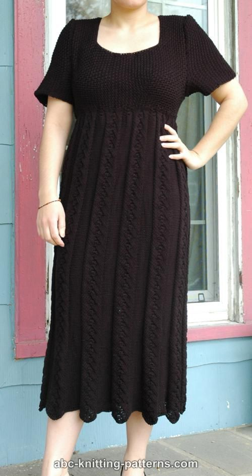 ABC Knitting Patterns - Summer Empire Waist Dress