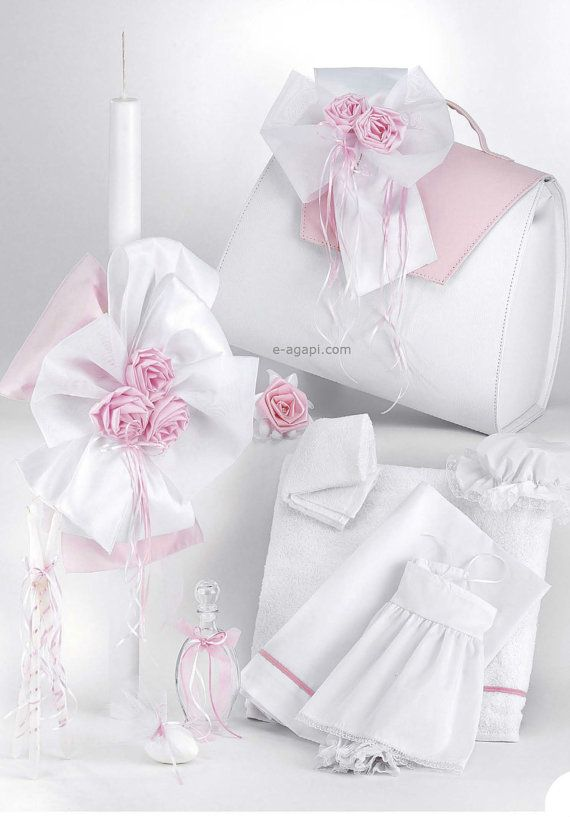 Romantic complete set Greek baptism set Orthodox by eAGAPIcom
