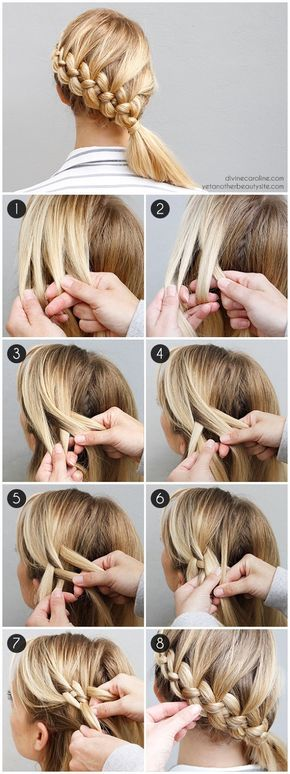 15 Easy Step by Step Hairstyle Tutorials – Peinados