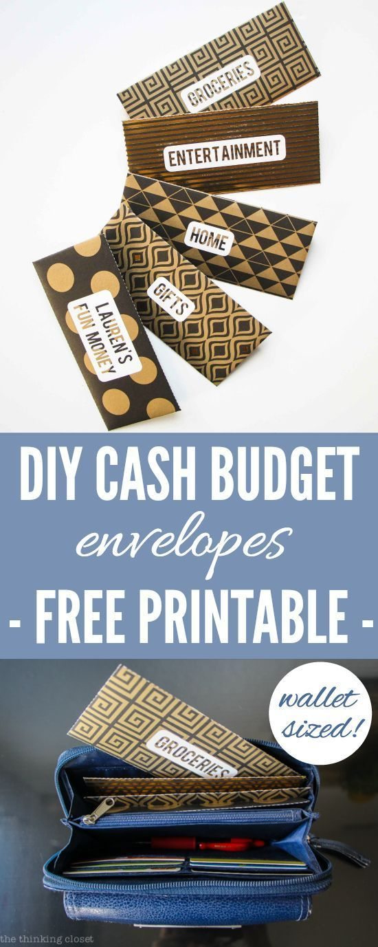 DIY Cash Budget Envelopes: Free Printable | Learn how to create your own wallet-sized envelopes using any paper or scrapbook paper. Free downloads include a PDF Printable & Silhouette cut file...so you've got options!  Great resource for anyone wanting to