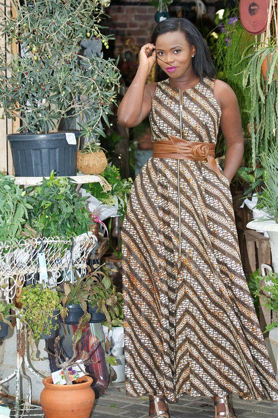 c12e0b8f46131 Ankara maxi dress/ african print maxi dress/ tribal maxi dress/ long  african dress