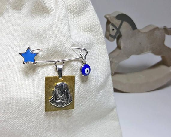 Small Gifts for Baby Shower, Baby Gift from Grandma, Baby Gift from God Mother, Baby Gift from Auntie, New Baby Boy, Religious Madonna Charm