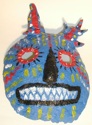craft project for school age children paper mache mask