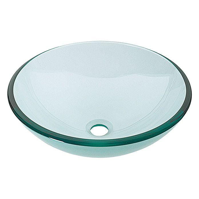 Cameo Glaswaschtisch  (Klar, Durchmesser: 42 cm)