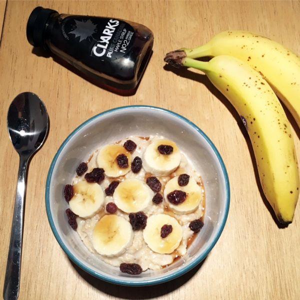 banana and maple syrup http://allaboutthegirlblog.blogspot.co.uk/2016/10/porridge-day-keeps-cold-away.html