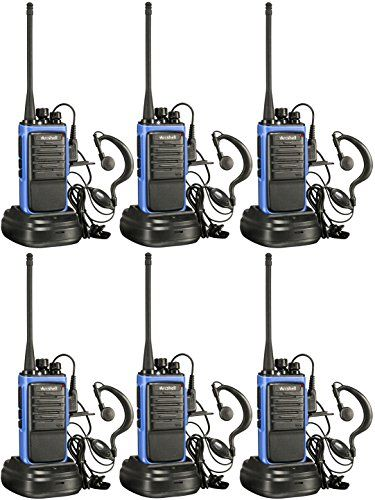 425f00cc529 Arcshell Rechargeable Long Range Two-way Radios with Earpiece 6 Pack UHF 400 -470Mhz