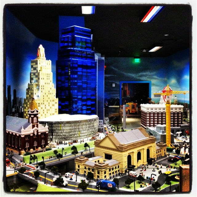 Locally inspired LEGO structures at LEGOland Discovery Center in Kansas City