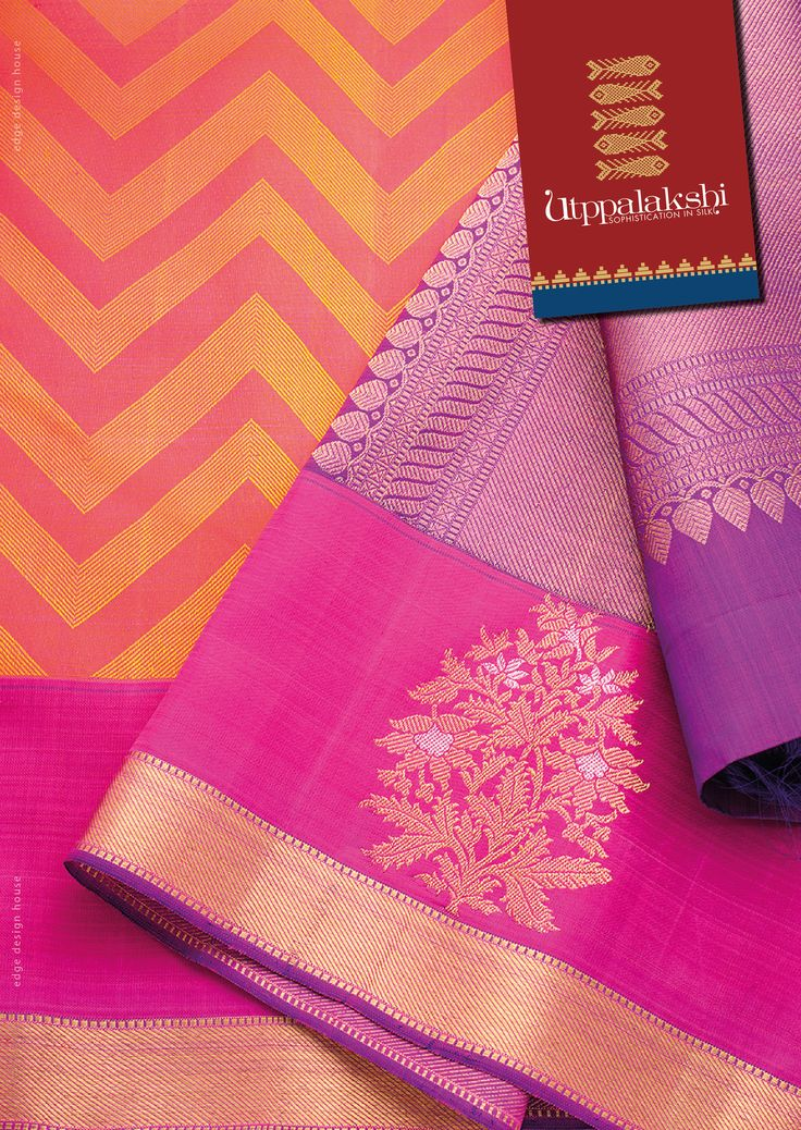 Jacquard Saree with awesome colour combination. Very elegant. Very Chic…