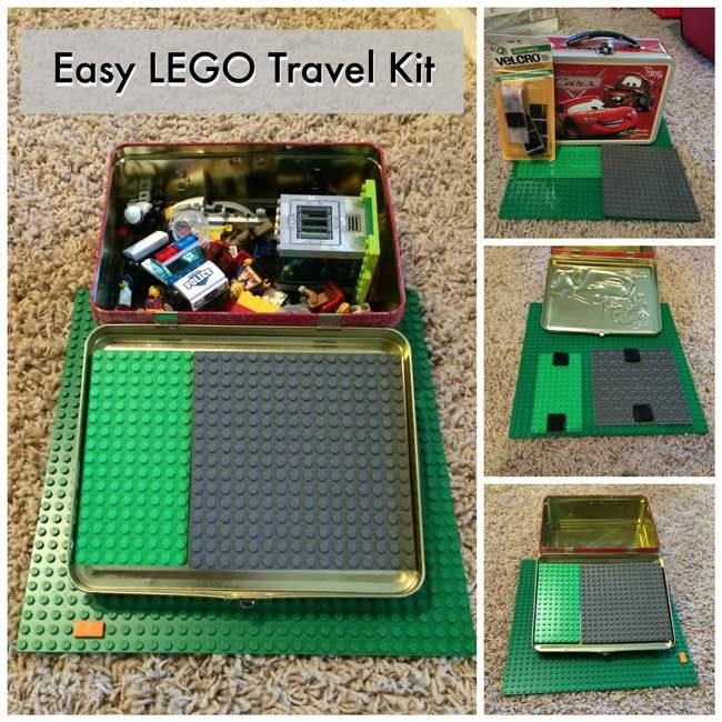 This LEGO travel kit is a perfect way to keep your Lego lover entertained on a long car trip or plane ride.