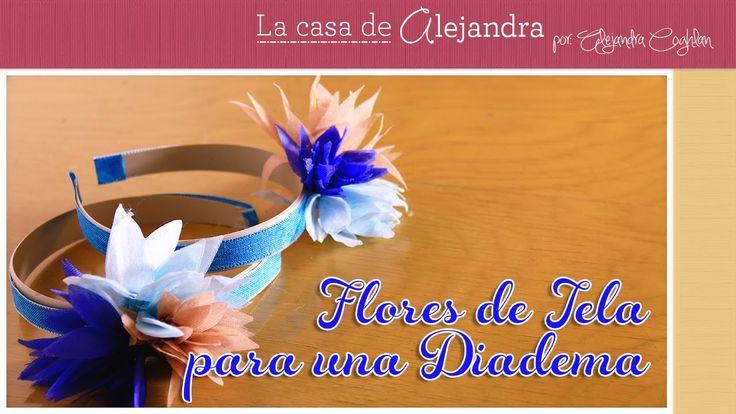 Como hacer unas flores de tela para una diadema DIY Alejandra Coghan - YouTube