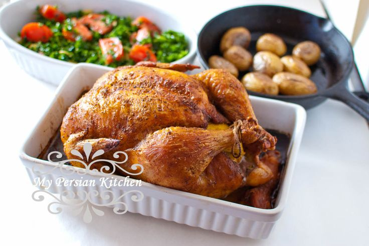Perfectly Roasted Chicken with Advieh