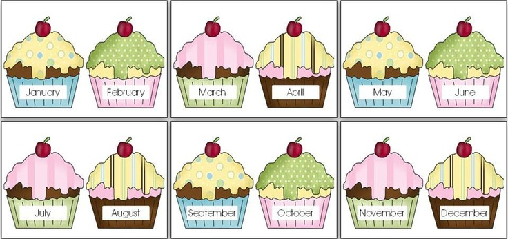22 best images about bulletin boards birthday chart on for Birthday chart template for classroom