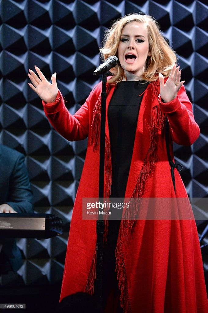 Adele performs onstage during iHeartRadio presents Adele's album premiere live at Joe's Pub on November 20, 2015 in New York City.