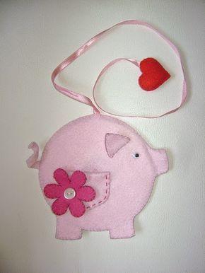Eu Amo Artesanato: Marcador de página de porquinho com molde