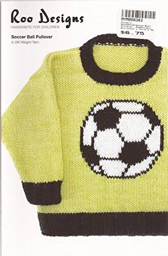 Roo Designs Childs Soccer Ball Pullover Knitting Pattern * You can get more details by clicking on the image.
