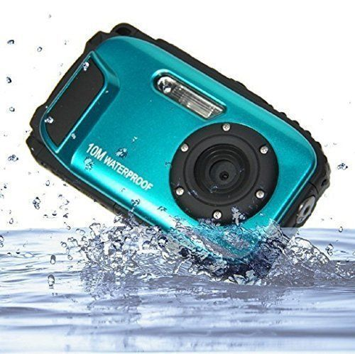 Waterproof Camera Fitiger Underwater 10m 27 inch LCD Digital Camera 16MP 8x Zoom Cameras Waterproof Camera Blue -- Continue with the details at the image link. #underwatercameras #digitalcamera