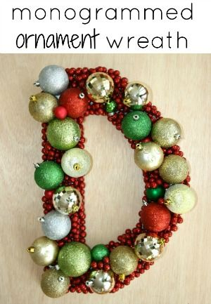 The 25 best ornament wreath ideas on pinterest christmas diy christmas decor wreath solutioingenieria Images