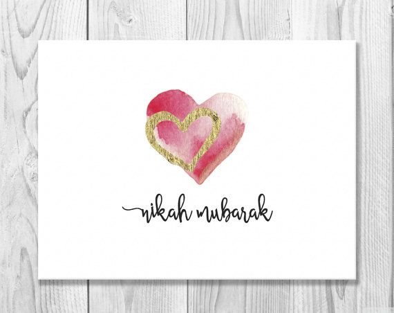 25 best greeting cards images on pinterest eid greeting cards printable nikah mubarak card instant download by sidraartboutique stopboris Gallery