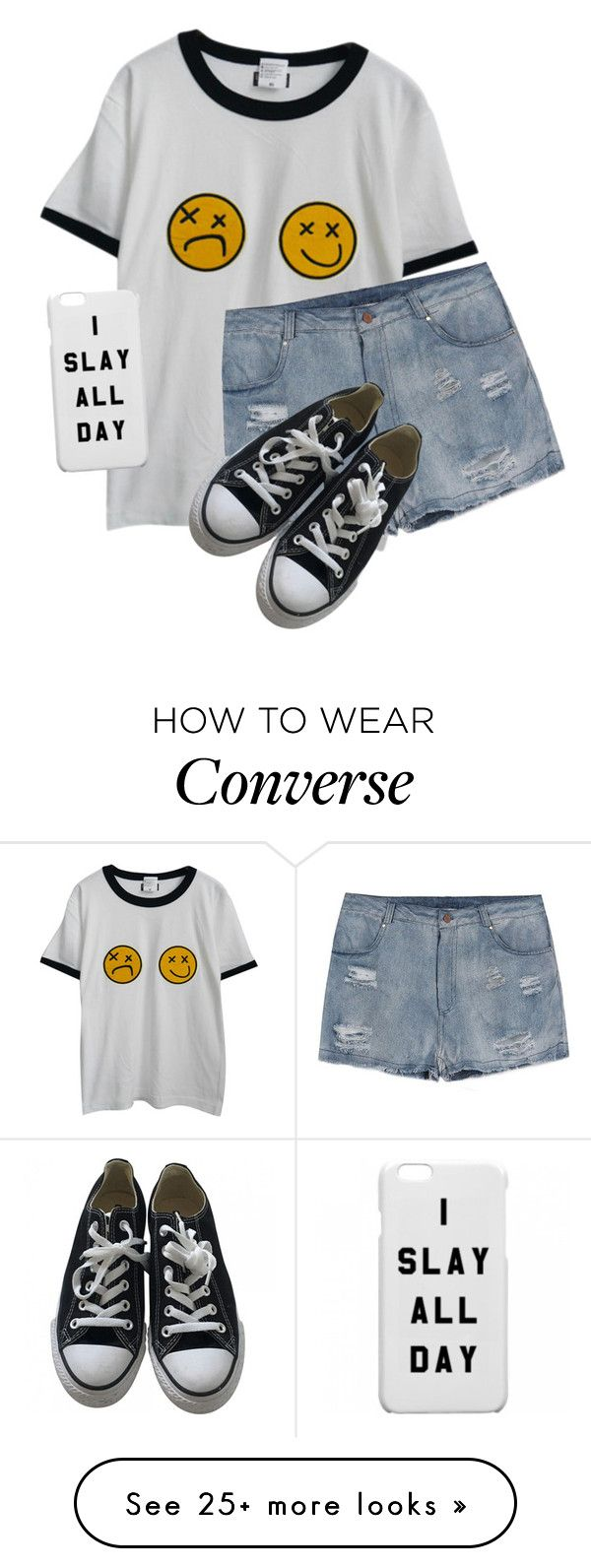 """Go to the cinema"" by mahone996 on Polyvore featuring Chicnova Fashion and Converse"
