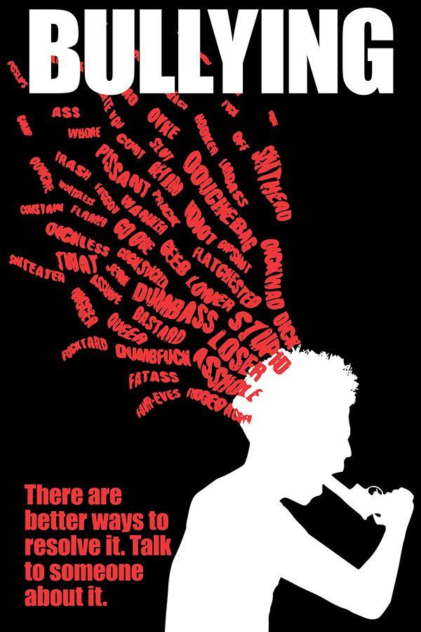 Cartel de concienciación sobre el bullying, mostrando aquellos comentarios que lo propician.