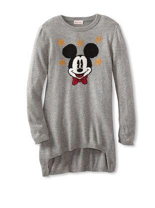 55% OFF Monnalisa Girl's Mickey Hi-Lo Tunic Sweater (Gray)