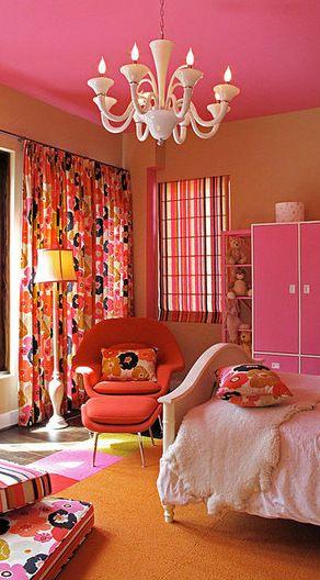 Pink Orange Design Mod And Vibrant Colors Similar To Drew S Room