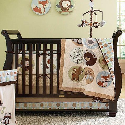 Crib Bedding Woodland Animals Gender Neutral Baby