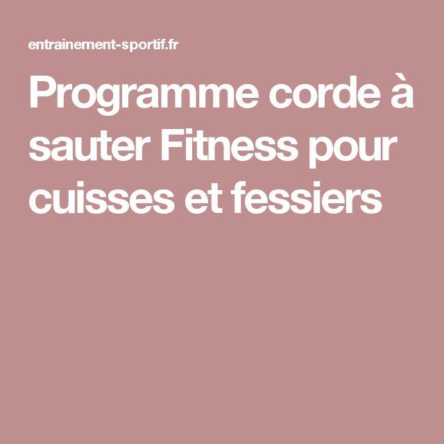 Programme corde à sauter Fitness pour cuisses et fessiers
