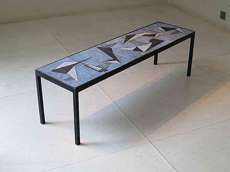 Pierre & Vera Szekely, André Borderie - Ceramic coffee table, circa 1950.