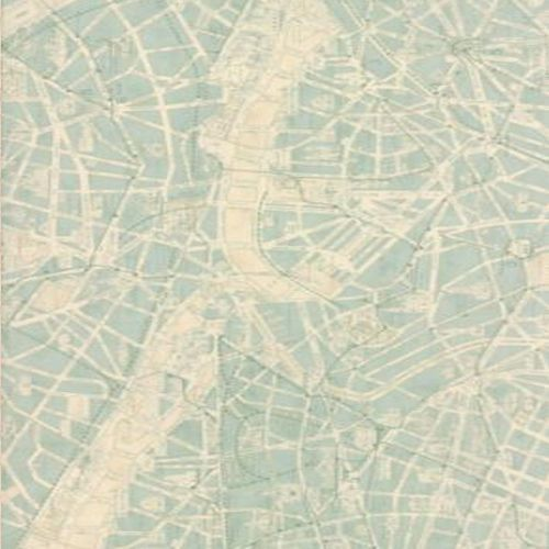 Best Fabric Images On Pinterest Yards Cotton Fabric And Fat - Paris map fabric
